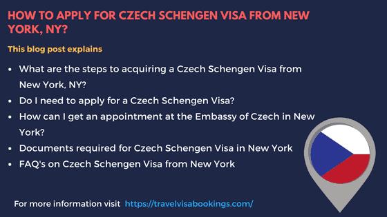 Czech Schengen visa from New York, NY