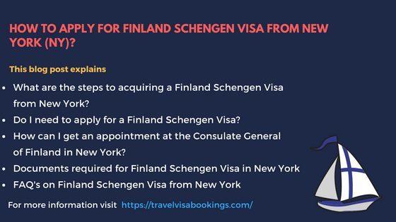 Finland Schengen visa from New York