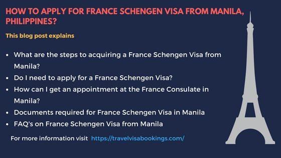 France Schengen visa from Manila, Phillipines