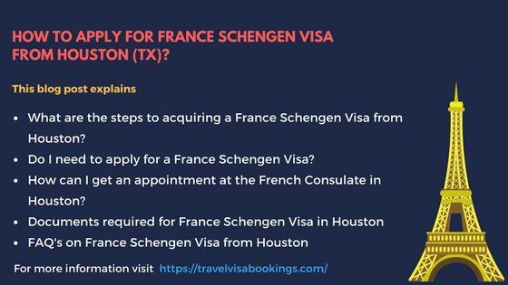 France Schengen Visa from Houston (TX)