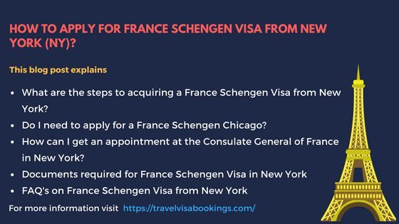 How to Apply for France Schengen Visa from New York, NY?