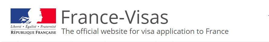 Official website for visa application to France