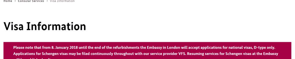 German consulate website in London 1