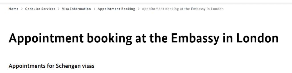 German consulate website in London 3