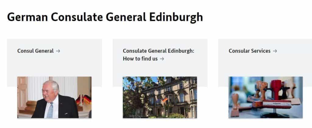 German Consulate General Edinburgh