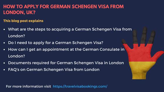 Germany Schengen visa from Edinburgh