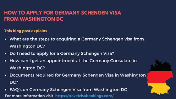 Germany Schengen Visa from Washington