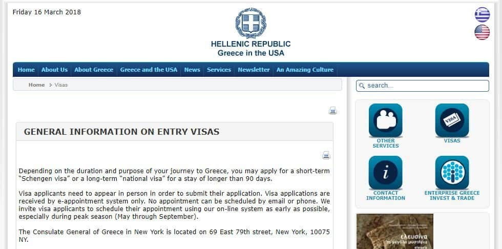General Information on ENTRY VISAS