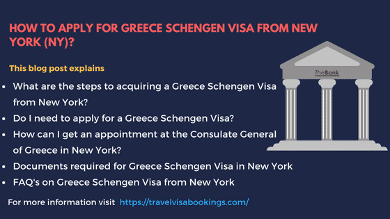 Greece Schengen visa from NY