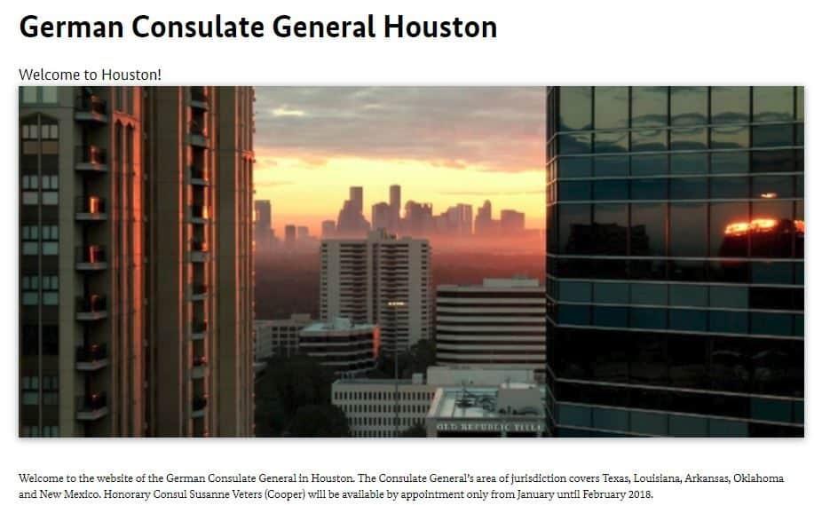 Houston German Consulate Website