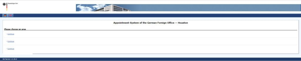 German Consulate USA Booking appointment online