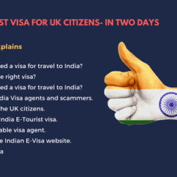 India E-Tourist visa for UK citizens- In two days