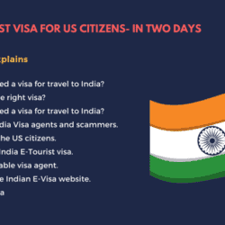 India E-Tourist visa for US citizens- In two days