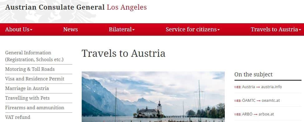 Travels to Austria