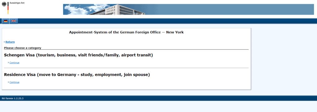 NY visa application procedure 2