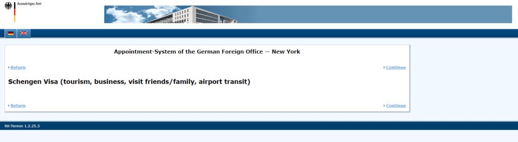NY visa application procedure 3