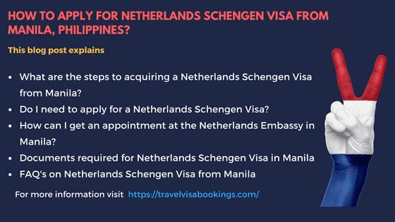 Netherlands Schengen visa from Manila