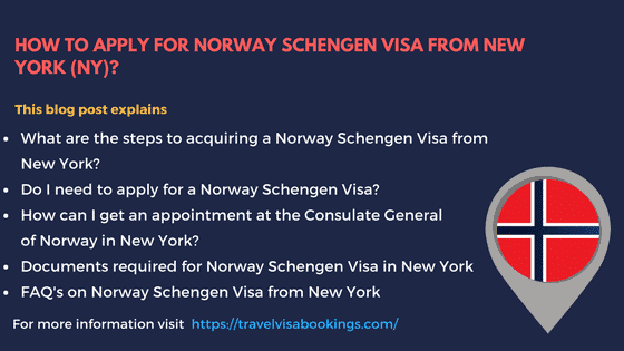 Norway Schengen visa from New York