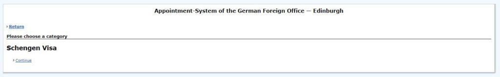 Schengen visa appointment sysytem