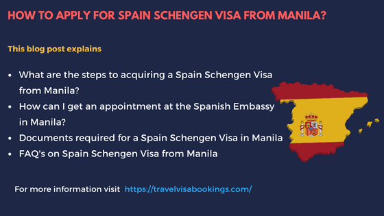 Applying for a Spain Schengen visa at the embassy of Spain