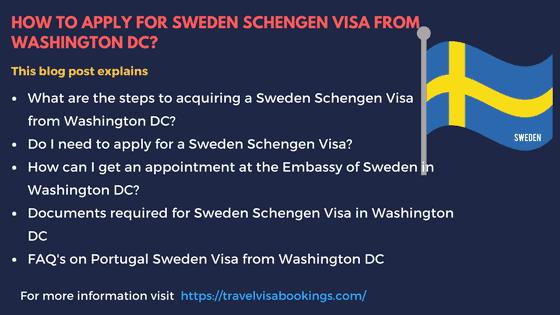 Sweden Schengen visa from Washington DC
