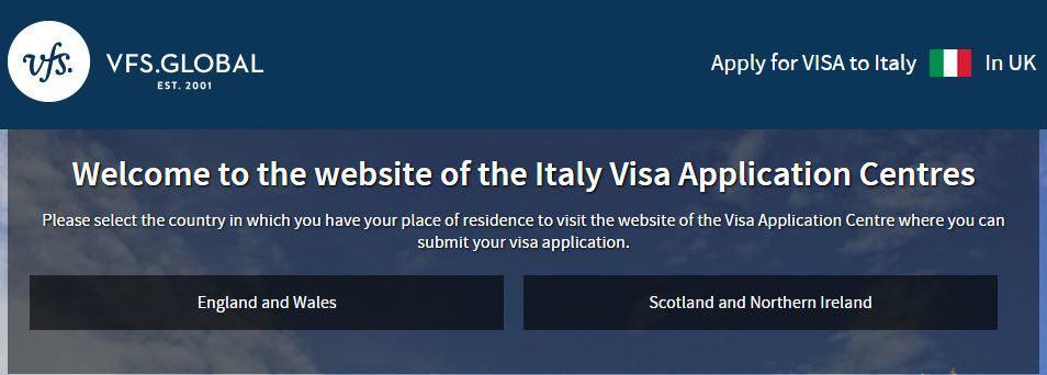 Italy visa application