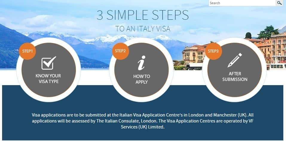 3 simple steps to follow apply for your Italian Schengen visa
