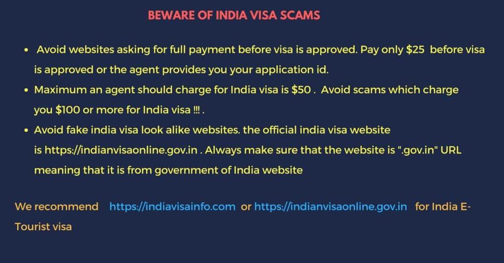 beware of India visa scammers