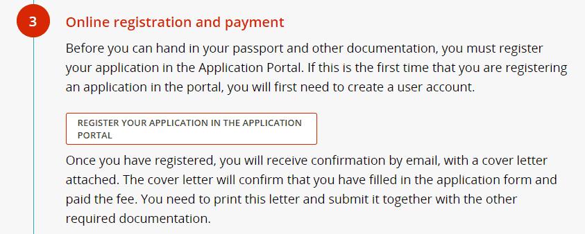 visitor visa online application login