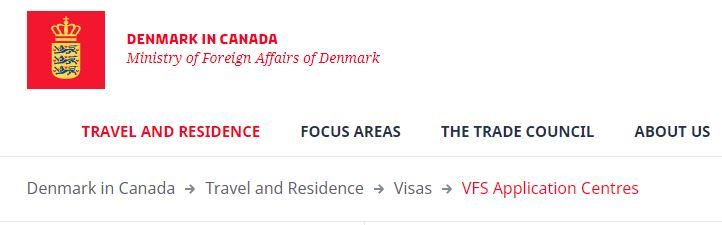 VFS Application Centre of Denmark in Canada