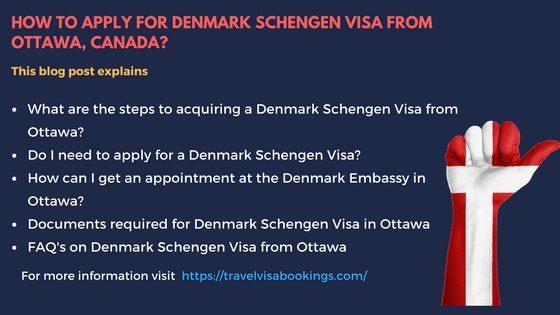 Denmark Schengen visa from Ottawa, Canada