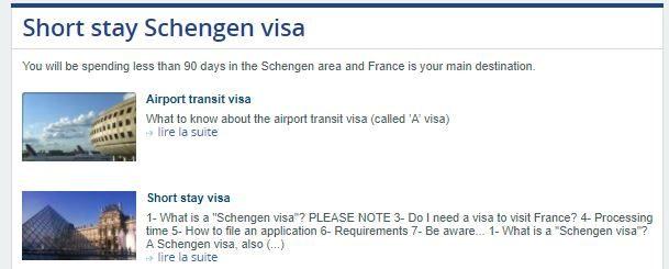Short stay Schengen visa
