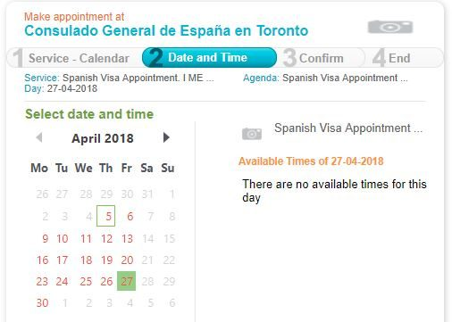 Booking an appointment