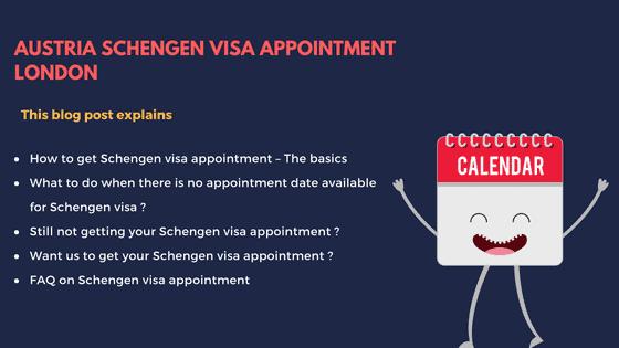 Austria Schengen visa appointment