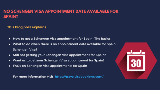 No Schengen Visa appointment for Spain