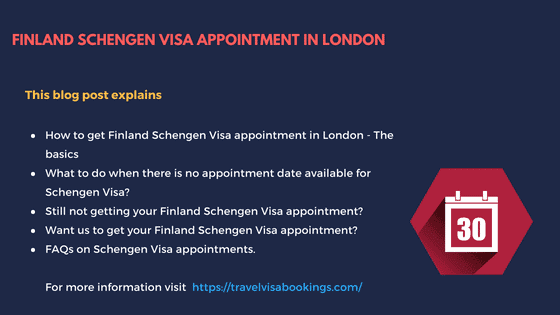 Finland Schengen visa appointment in London