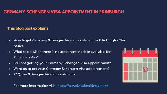 No Germany schengen visa appointment in Edinburgh