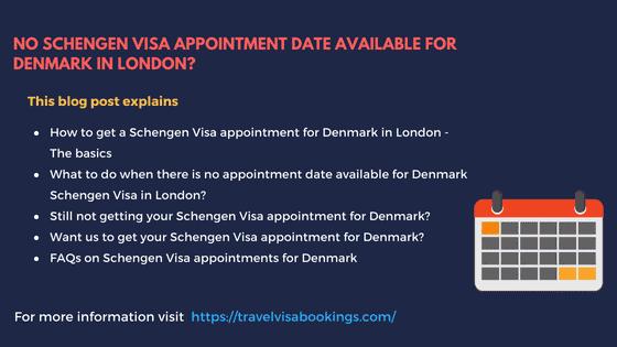No Denmark Schengen visa appointment in London