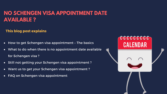 No Schengen visa appointment date available