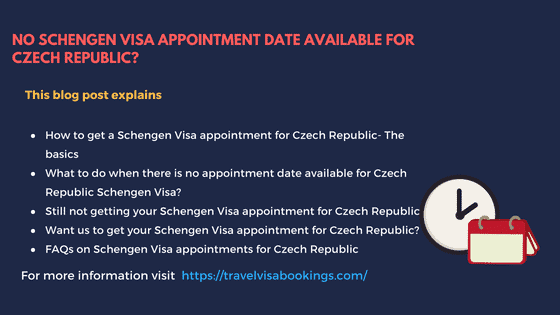 No Schengen visa appointment for Czech