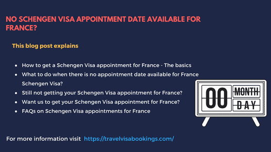 No Schengen visa appointment for France