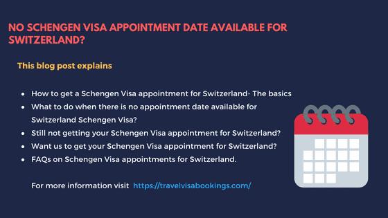 No Schengen visa appointment for Switzerland