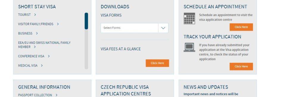 Czech republic schengen visa appointment process