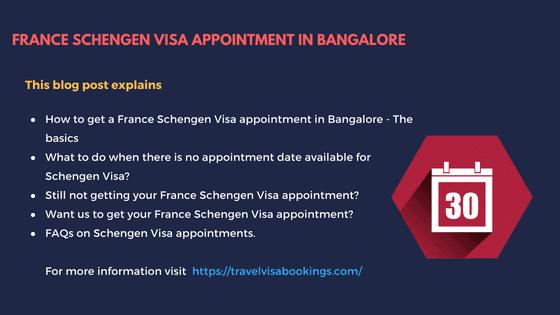 France Schengen visa appointment in Bangalore