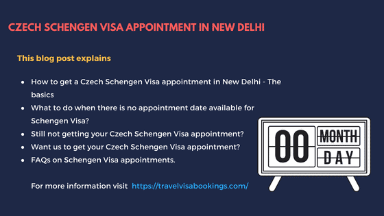 Czech Schengen visa appointment in New Delhi