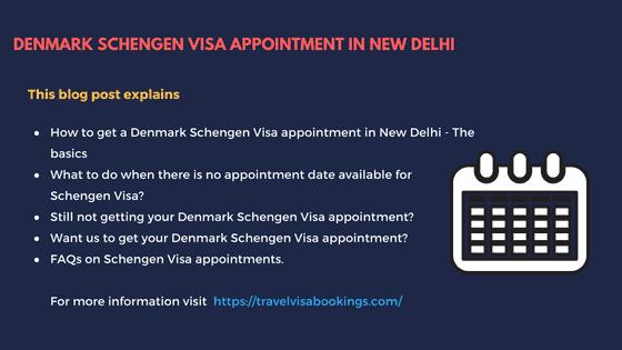 Denamrk Schengen visa appointment in New Delhi