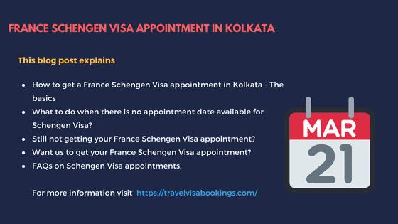 France Schengen visa Appointment in Kolkata