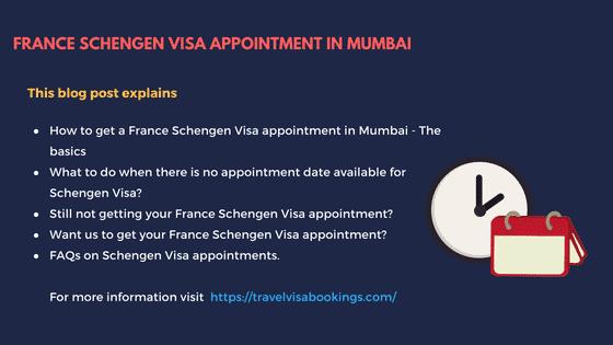 France Schengen visa Appointment in Mumbai