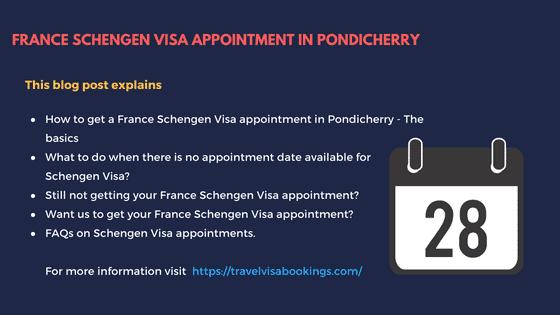France Schengen visa Appointment in Pondicherry