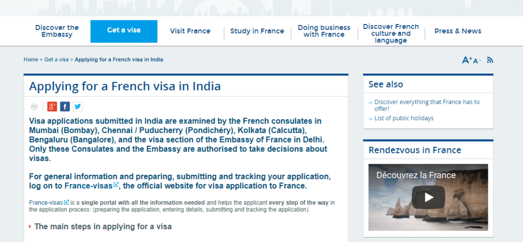 French consulate website 1